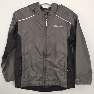 Columbia Rain Jacket Gray Zip Pockets Size 4T